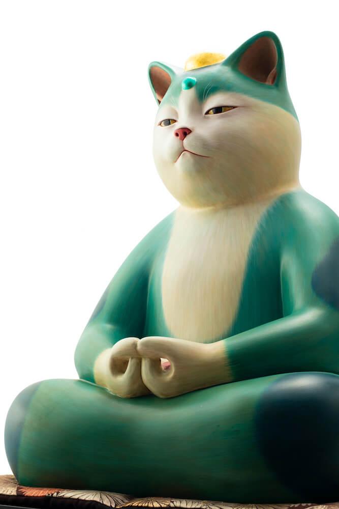 創作招き猫作家「もりわじん」氏による猫の仏像作品