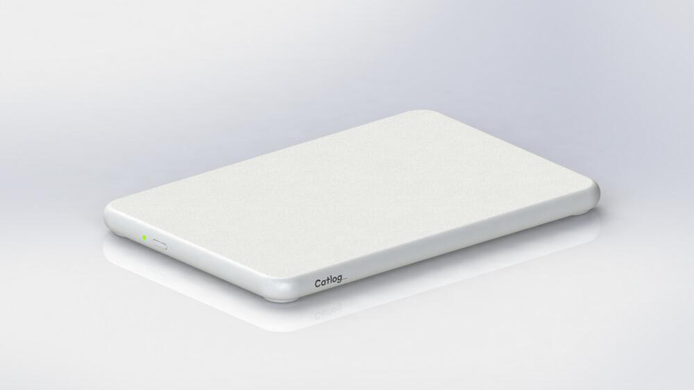 猫様の体重と尿量・回数を自動で記録する「Catlog Board(キャトログボード)」の製品単体イメージ
