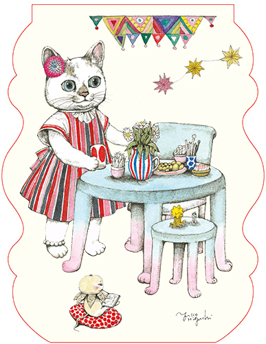 絵本月刊誌「MOE(モエ)」2020年12月号の付録、ヒグチユウコの猫便箋