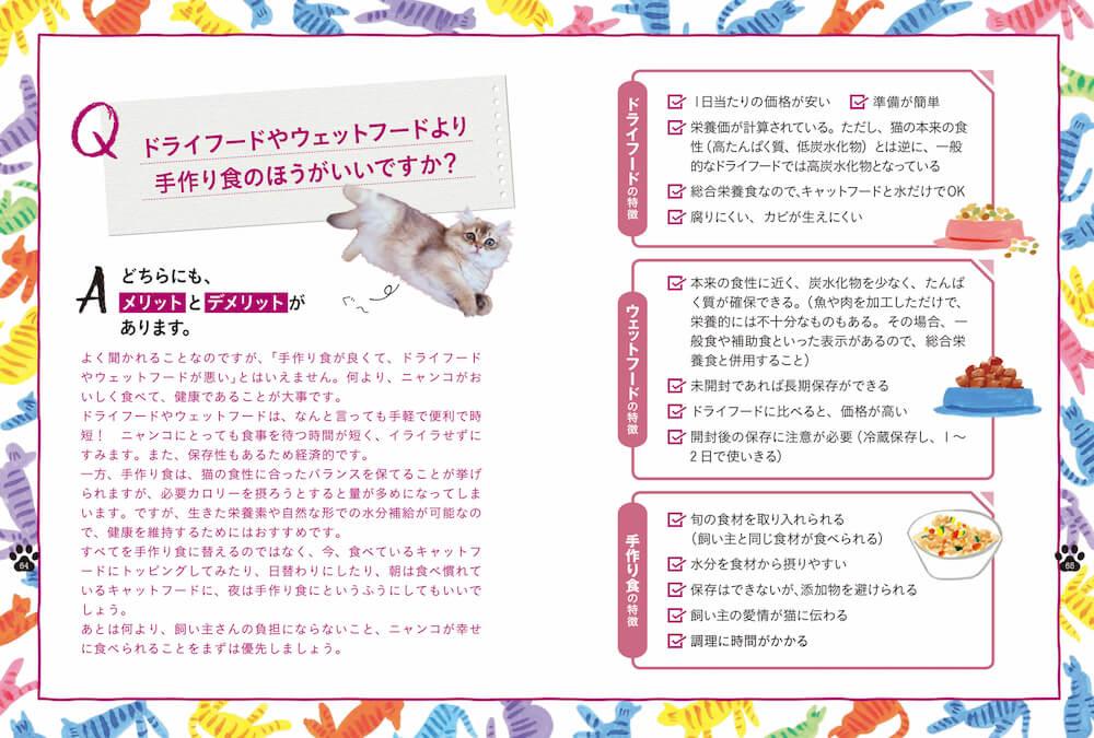 猫に関する素朴な悩みについても解説している書籍『獣医師が考案した長生き猫ごはん』のQ&Aページ