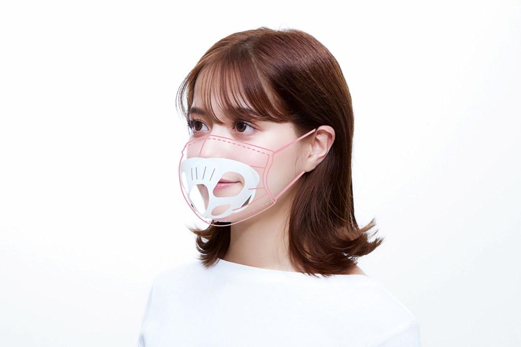 ネコ型のマスクフレーム「にゃんと快適!マスクフレーム」の装着タイプ2(鼻と口を一体化で覆うタイプ)