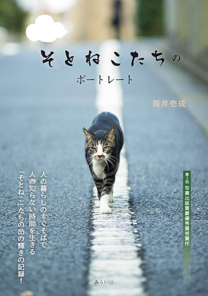 ヒトねこ写真家・阪井壱成の写真集「そとねこたちのポートレート」表紙イメージ
