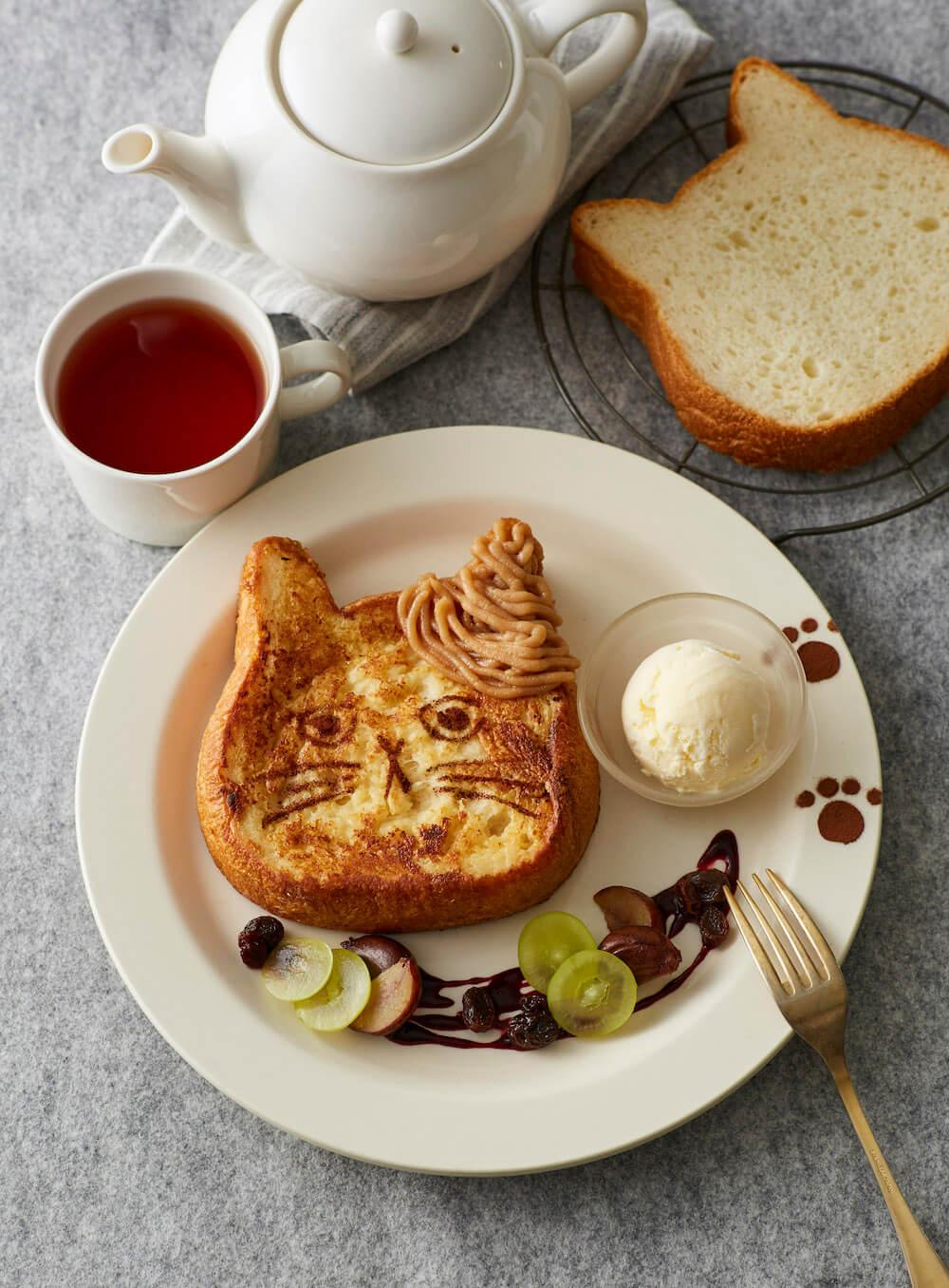 「ねこねこ食パンのフレンチトースト モンブランバニラ」商品イメージ