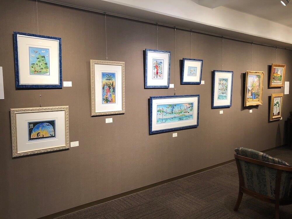 翠波画廊で開催されている「猫展」展示風景イメージ1