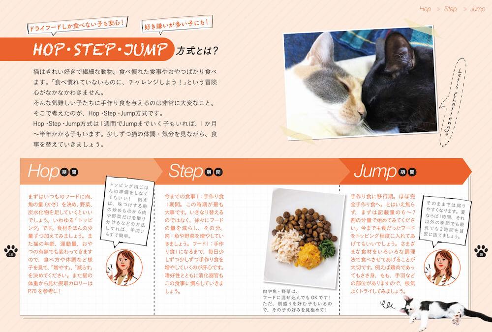 段階的に猫の手作りご飯に移行する「Hop・Step・Jump」方式 by 『獣医師が考案した長生き猫ごはん』
