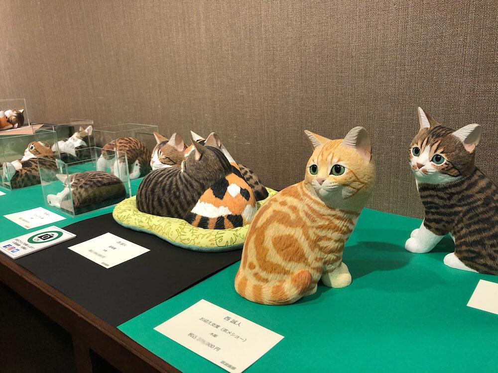 翠波画廊で開催されている「猫展」展示風景イメージ3