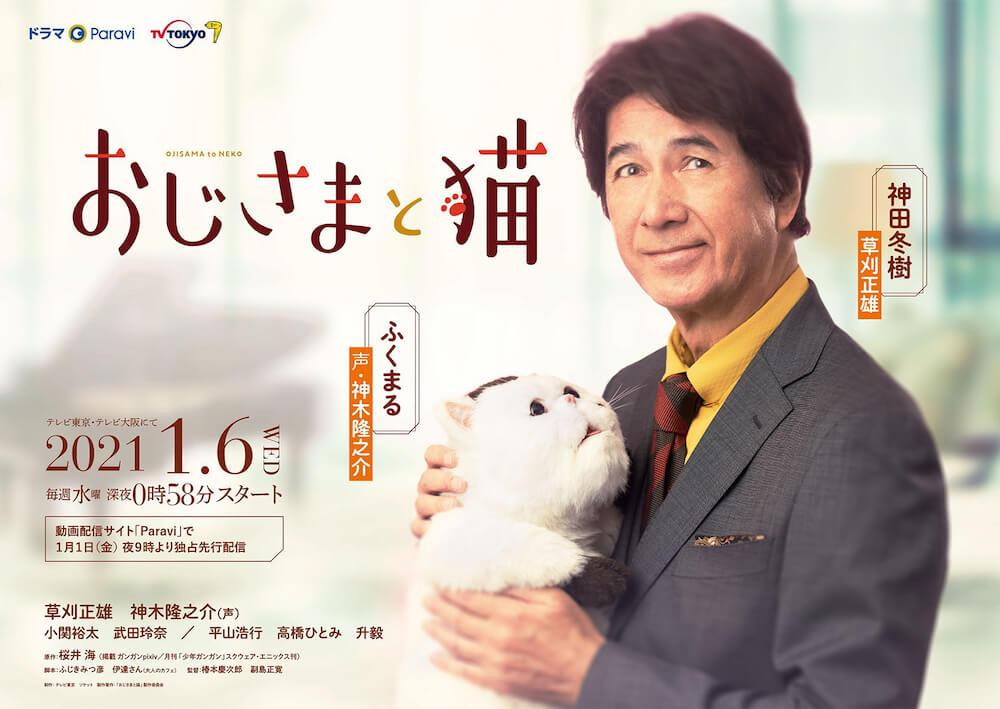 テレビドラマ「おじさまと猫」のポスタービジュアル