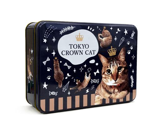 物入れに使えるTOKYO CROWN CATのお菓子「ロングフィナンシェ」の容器イメージ