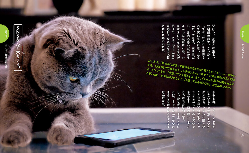 SNSに疲れた時のアドバイス by 猫に学ぶ書籍『ニャンコ流でお気楽人生 ! 』