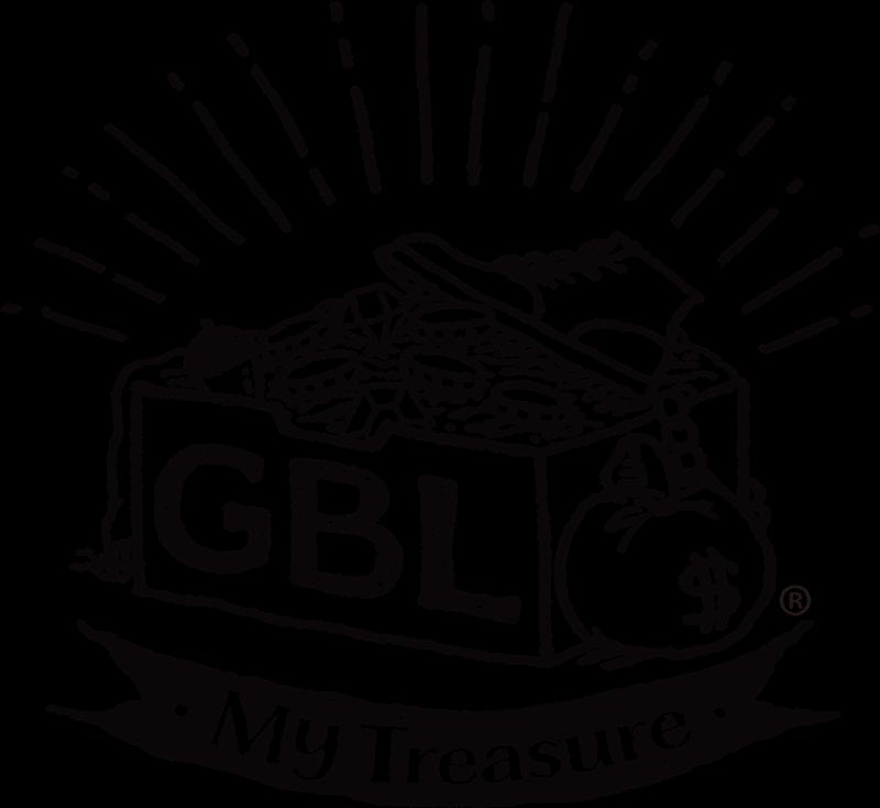 スタジオジブリファンのための大人向けアメカジブランド「GBL」のロゴ