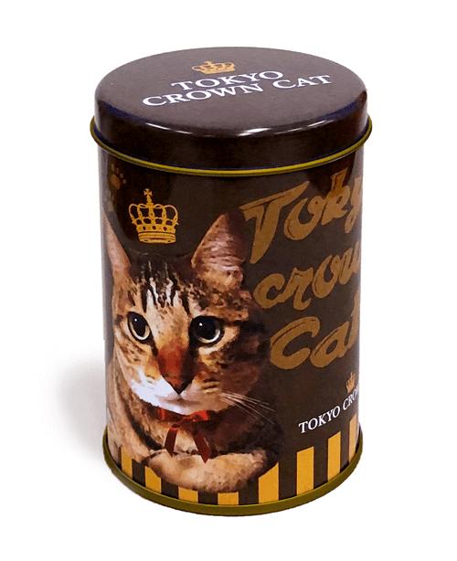 ペン立てとして使えるTOKYO CROWN CATのお菓子「にくきゅうチョコレート」の容器イメージ