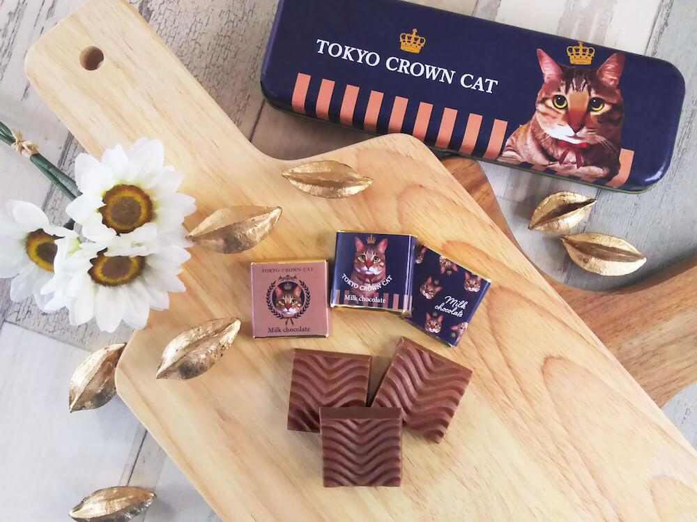 TOKYO CROWN CAT(トウキョウ クラウン キャット)の「ソリッドチョコレート」個包装デザイン