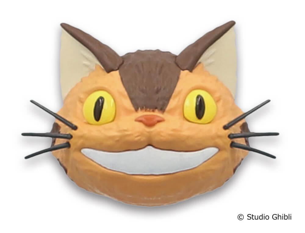「ネコバスのフェイスマグネット」口を広げたデザイン
