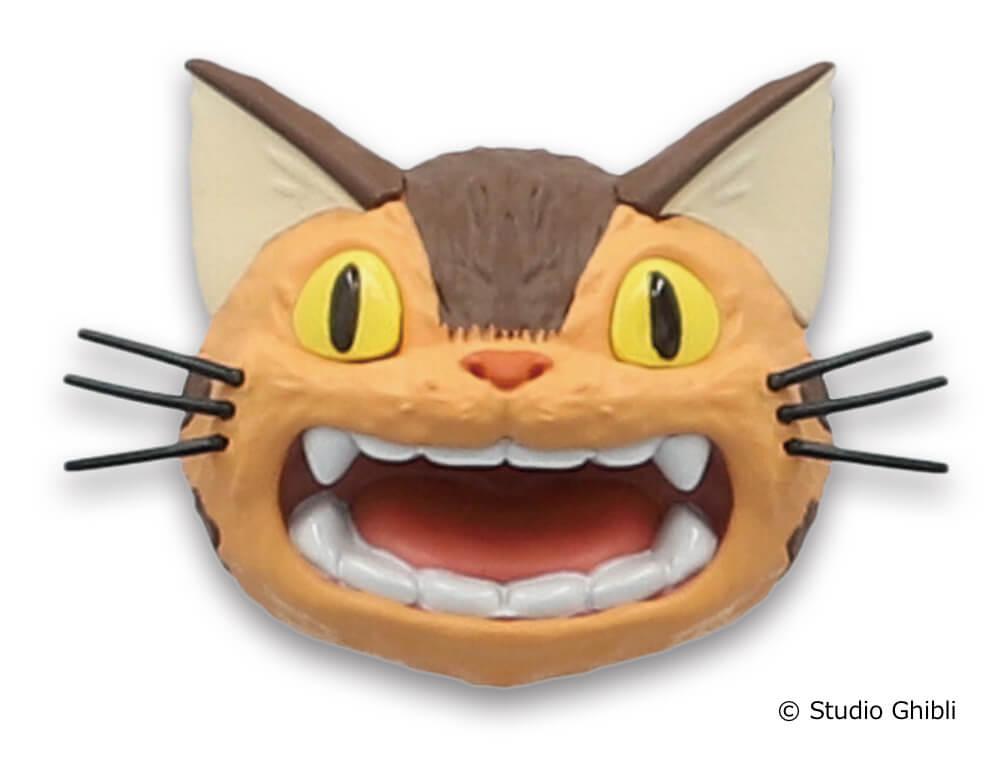 「ネコバスのフェイスマグネット」口を開けて叫ぶ(空にひびけ)デザイン