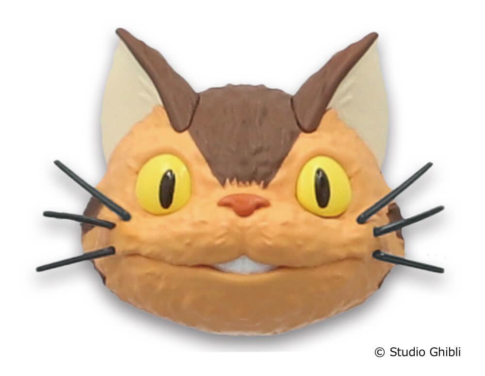 「ネコバスのフェイスマグネット」きょとん顔デザイン