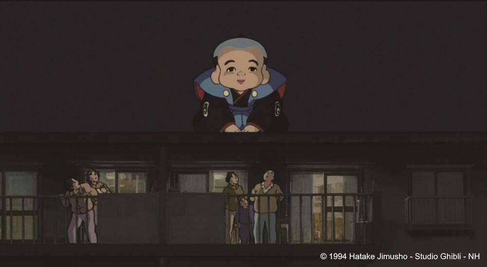 ジブリ映画「平成狸合戦ぽんぽこ」の妖怪大作戦に登場する巨大な福助人形