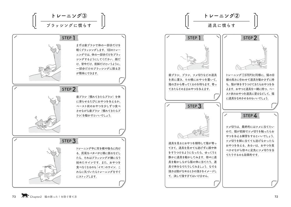 書籍『猫の困った行動 予防&解決ブック』Chapter2の中面イメージ