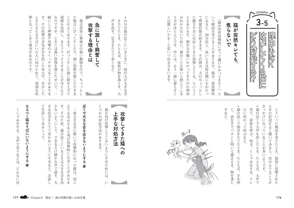 書籍『猫の困った行動 予防&解決ブック』Chapter3の中面イメージ