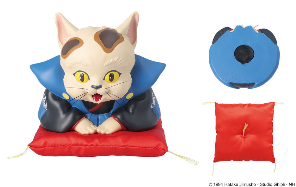 ジブリ映画・平成狸合戦ぽんぽこのキャラクター「猫福助」をモチーフにした貯金箱製品イメージ