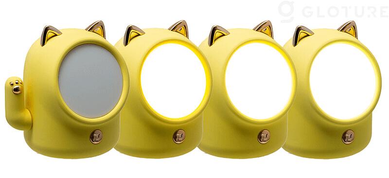 光の色や明るさを調整できる招き猫型のライト