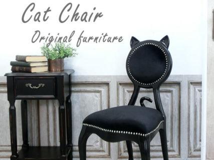 ネコ好きな人なら一度は座ってみたい!アンティーク家具屋が考案した「キャットチェア」