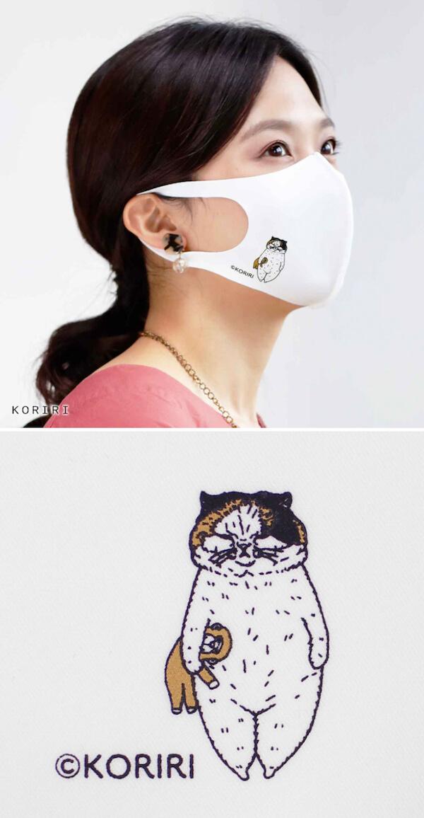 イラストレーター「KORIRI」がデザインした猫マスク