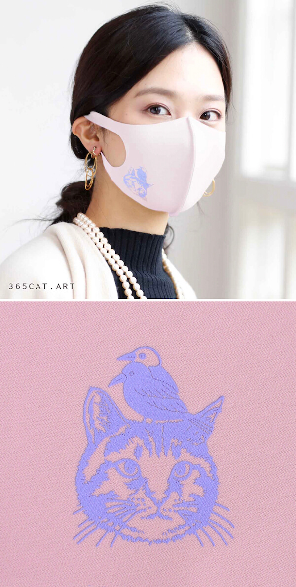 イラストレーター「365CAT.ART」がデザインした猫マスク