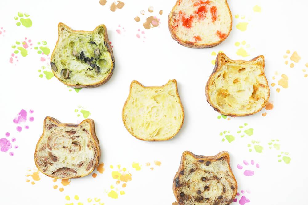 「東京ねこねこ」のねこ型食パン商品イメージ