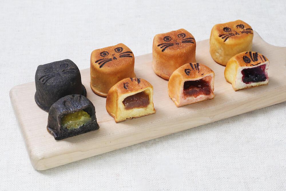 東京駅限定で発売されるネコ型のジャムパン「ねこねこジャムパン」