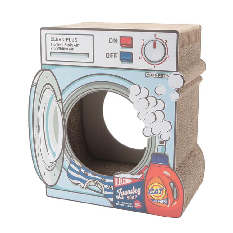 洗濯機型の爪とぎ猫ハウス「爪とぎ Laundry」表面のイメージ