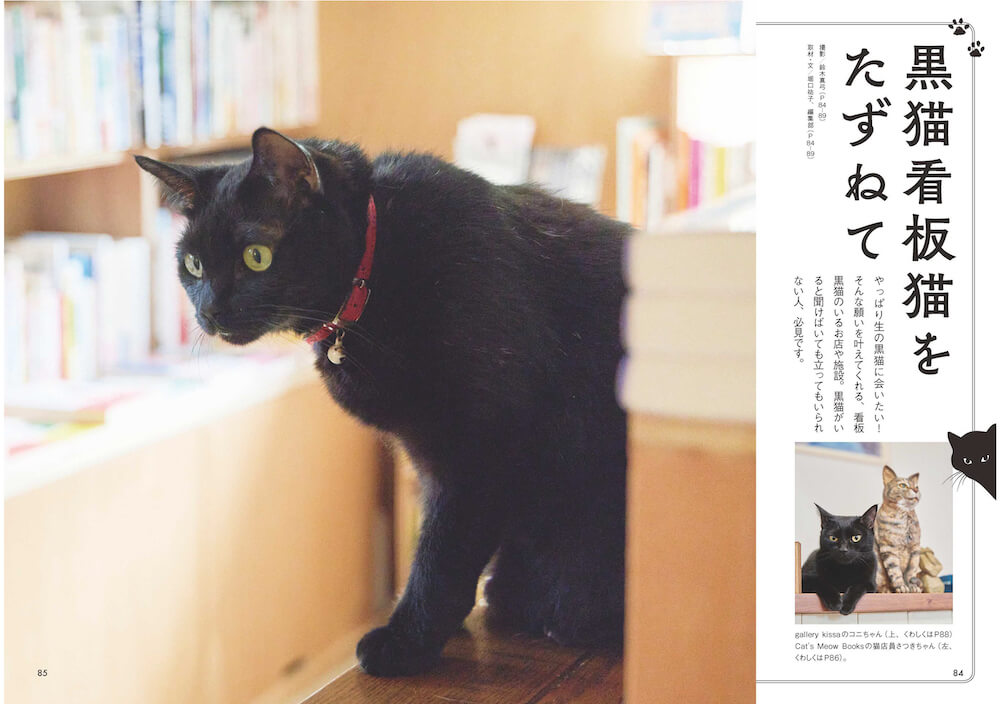 「黒猫看板猫をたずねて」 by 雑誌「黒猫まみれ」