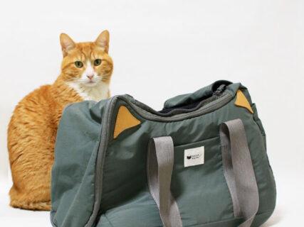 旅行だけでなくネコを運ぶのにも使える!猫耳デザインのかわいいボストンバッグが登場