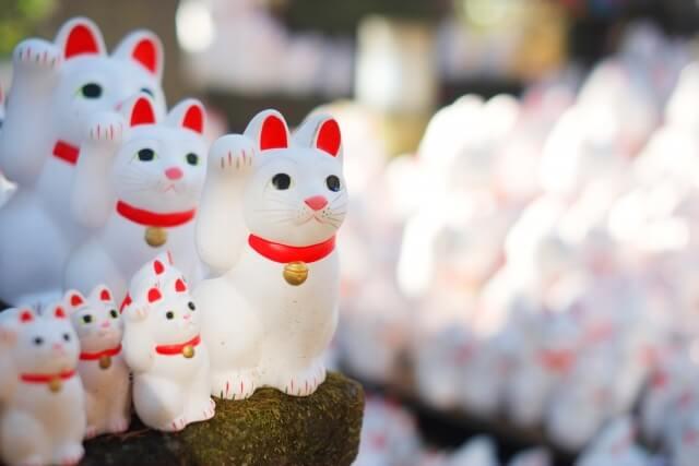 江戸時代に誕生した日本独自の縁起物「招き猫」のイメージ写真