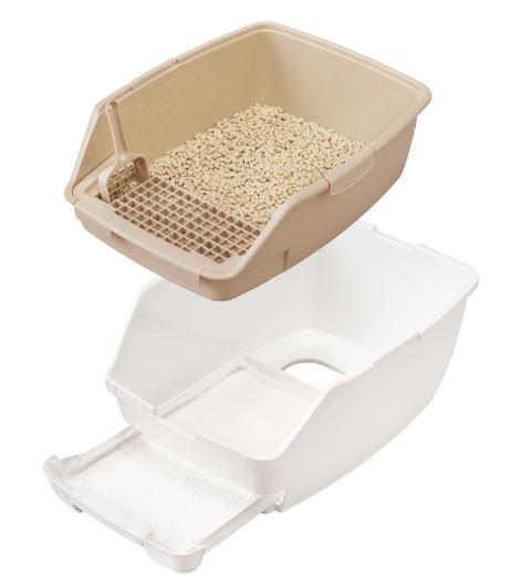 アイリスオーヤマの猫トイレ「猫用システムトイレ」ハーフサイズ