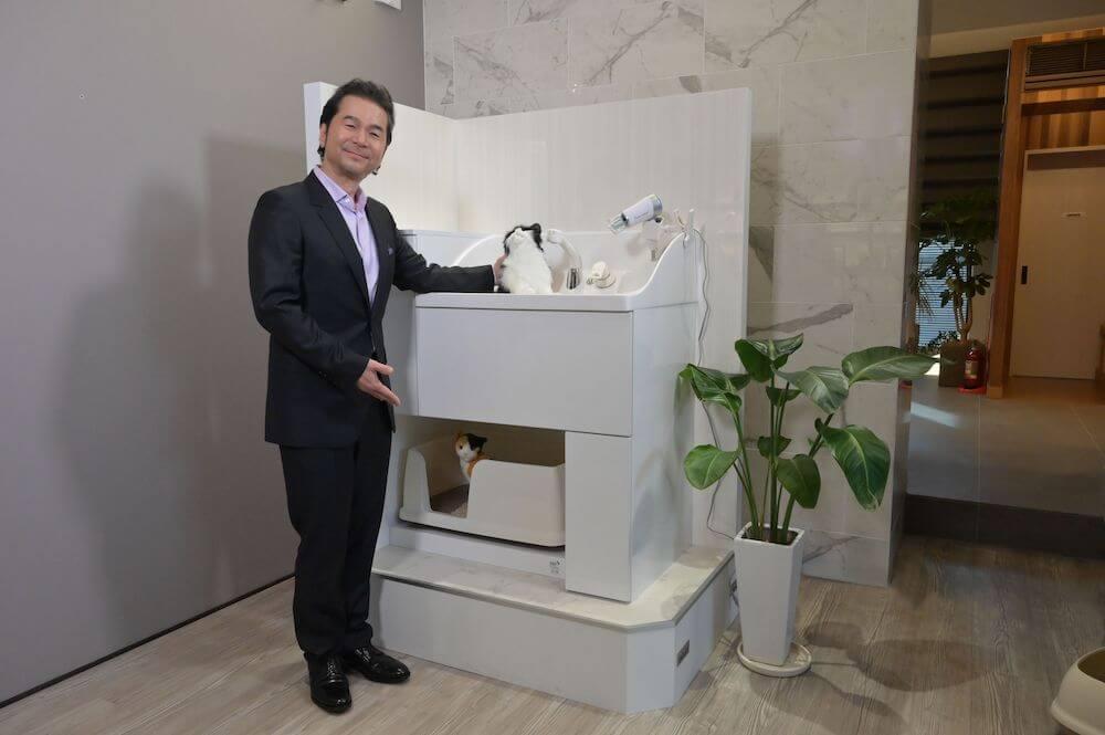 猫専用の水洗トイレ&ユニットバス「ネコレット」を発案したドリームズ・カム・トゥルーの中村正人