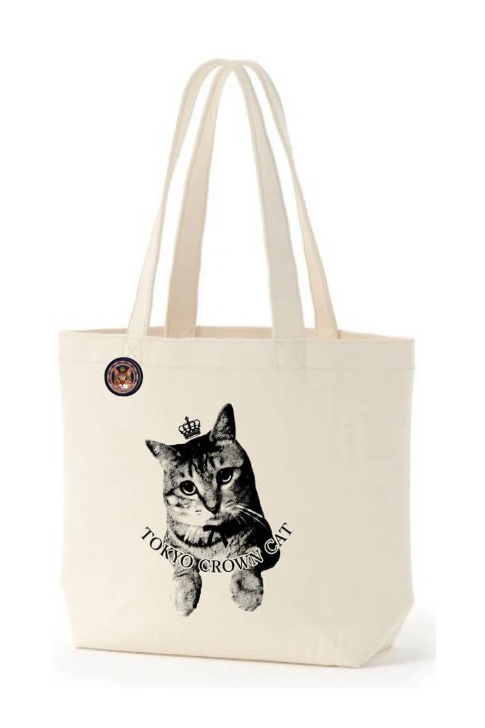 TOKYO CROWN CATのオリジナル猫トートバッグ