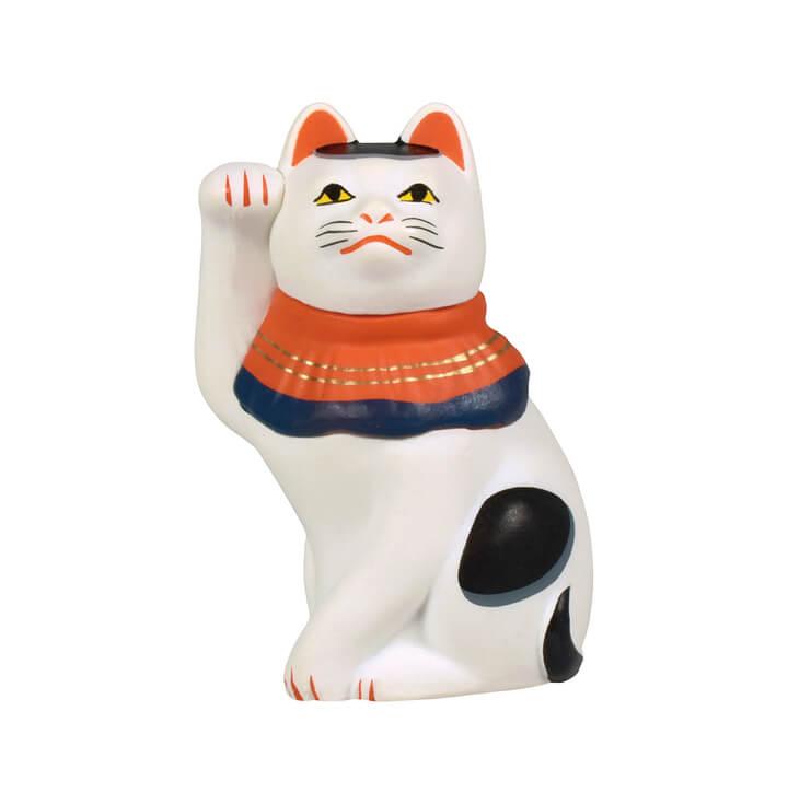 今戸焼きの招き猫「今戸焼丸〆猫(まるしめのねこ)」 by 招き猫ミニチュアコレクション
