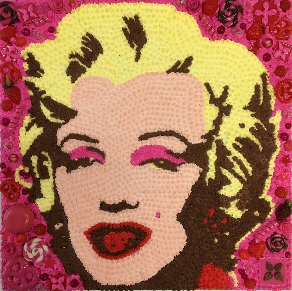 「マリリン・モンロー」をモチーフにしたスイーツデコアート作品 by 現代美術作家・渡辺おさむ
