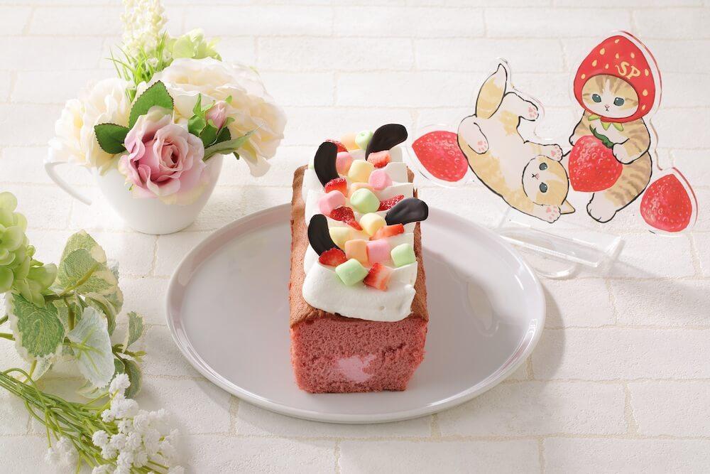 猫をモチーフにしたパウンドケーキ「カラフル生パウンドいちご」 by スイーツパラにゃんス