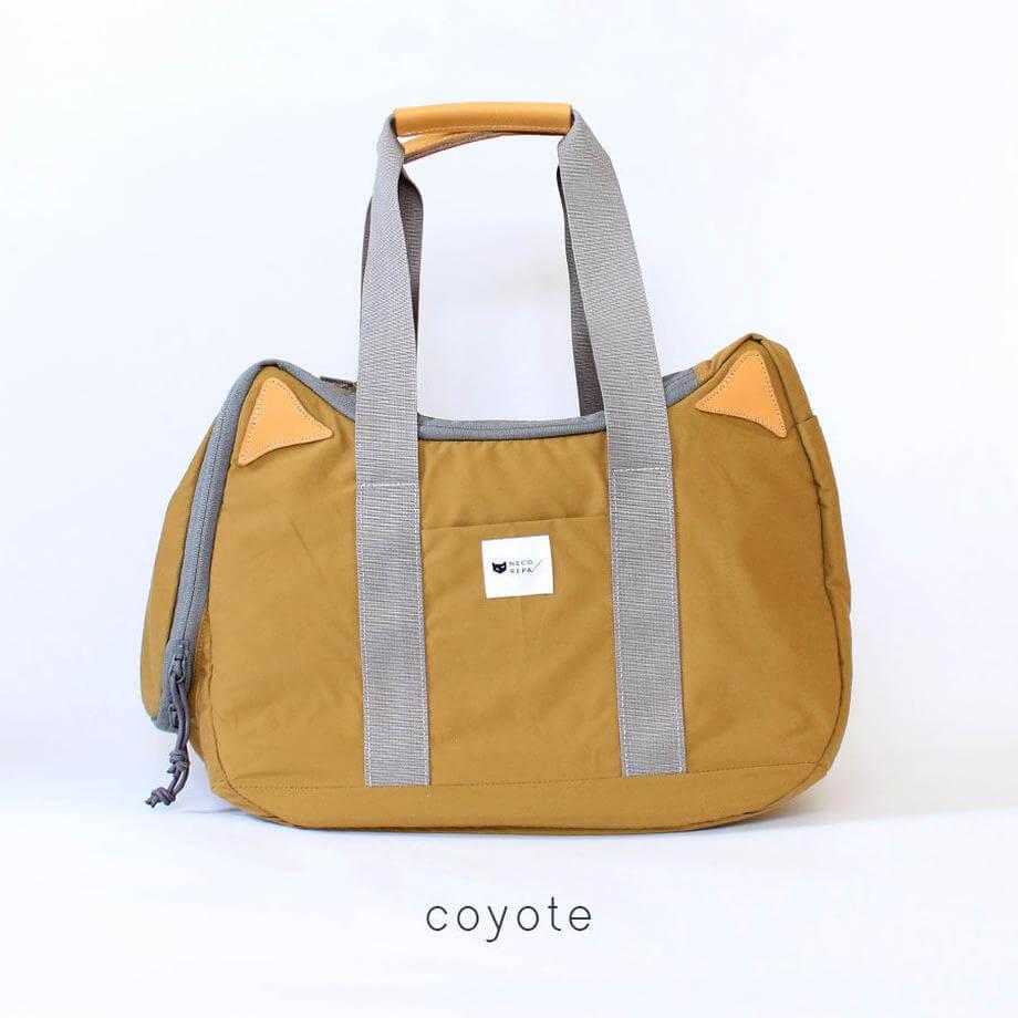 猫耳&猫デザインのボストンバッグ 「CAT 2WAY BOSTON BAG」コヨーテカラー