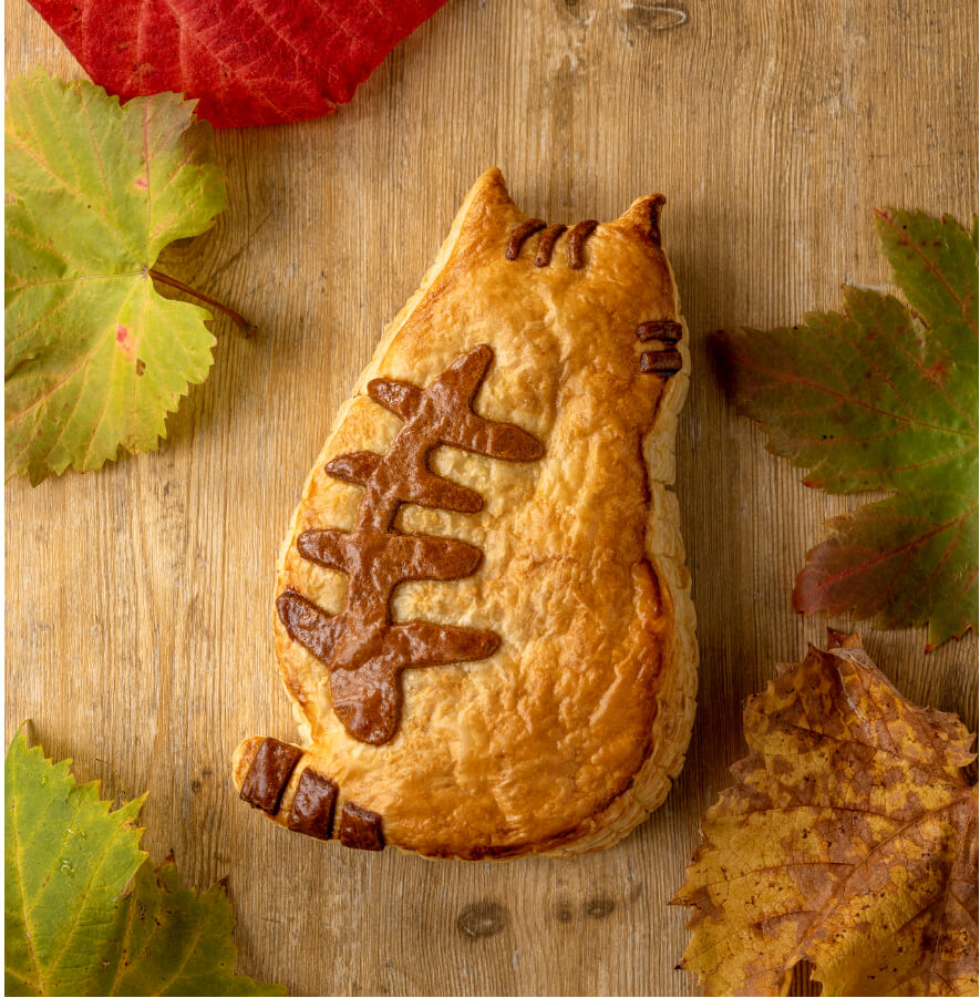ぶどうの木」で発売されている新商品「にゃんこのチョコパイ」
