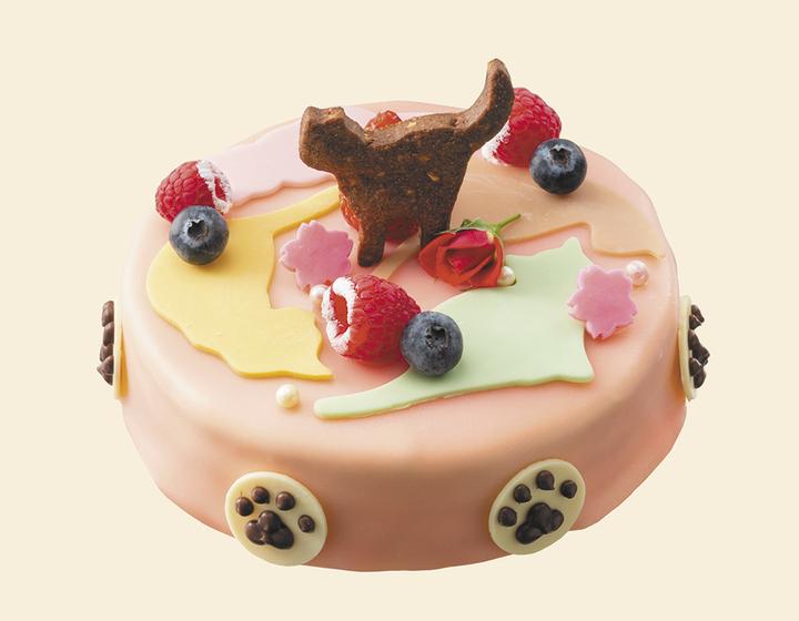 札幌センチュリーロイヤルホテルで提供中の「猫ケーキ」