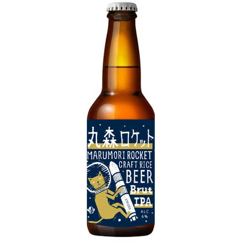 猫ラベルのクラフトビール「お米のクラフトビール 丸森ロケット」