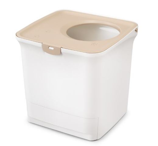 アイリスオーヤマが発売した縦型・箱型タイプの猫トイレ「猫用システムトイレ」製品本体イメージ