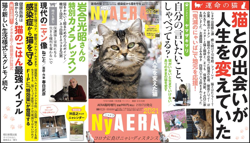 猫雑誌「NyAERA(ニャエラ) 2021」の目次&誌面イメージ