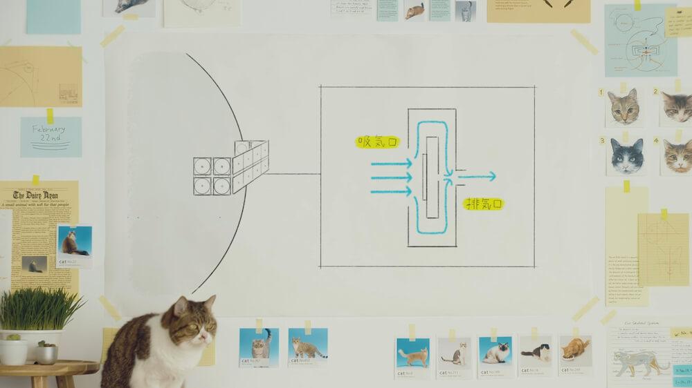 猫型ドローン「にゃろーん」が振動によって動く仕組み