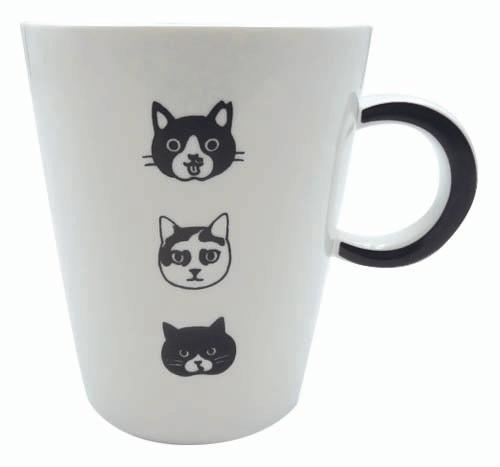 坂崎千春(さかざきちはる)さんデザイン「白黒さんいらっしゃい」マグカップ