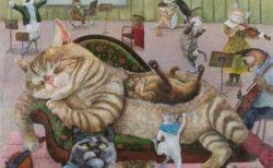 猫の性格や特徴を元に擬人化してくれる!画家のアトリエを兼ねた絵画オーダー店「3軒のねこと庭」