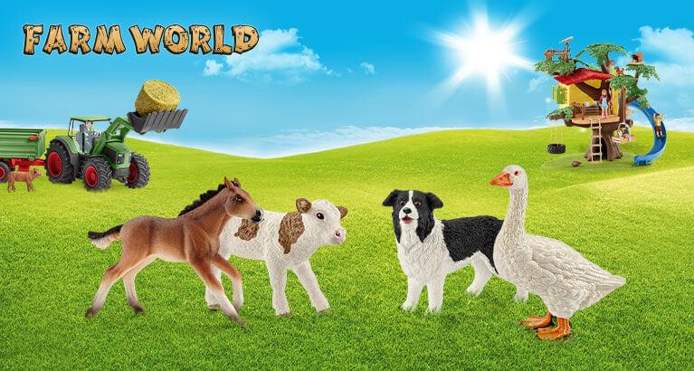 農場の動物をテーマにしたフィギュアシリーズ「ファームワールド」 by ドイツ生まれのフィギュアブランド「シュライヒ(Schleich)」