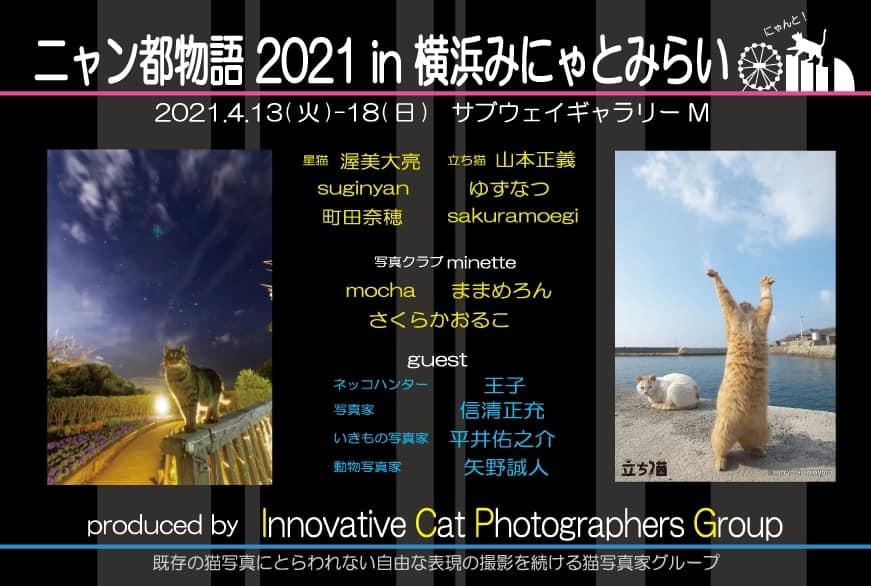 猫の写真展「ニャン都物語 2021 in 横浜みにゃとみらい」メインビジュアル